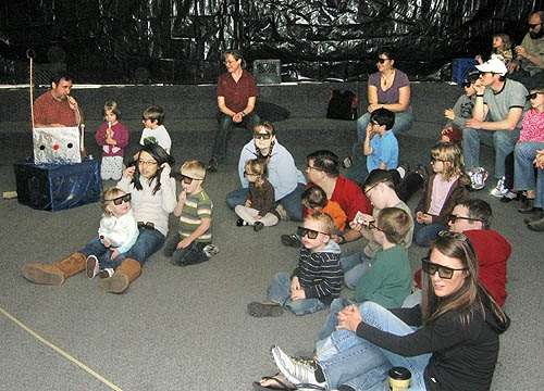 "The audience enjoys the ""Discover 3-D"" program"