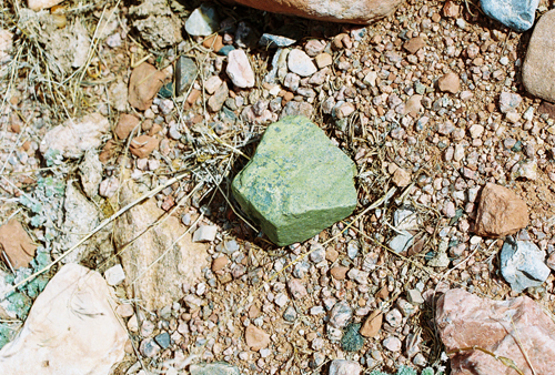 Mystery rock at Red Mountain Open Space