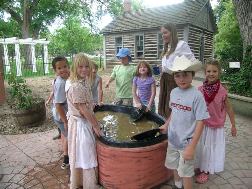 Panning for gold during the Wild West Days summer program