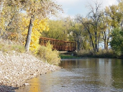 The Poudre River at Lion's Park (photo: Cache La Poudre River National Heritage Area)