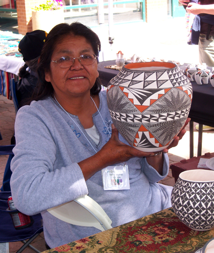 Artisan at the 2008 Fort Collins Museum Indian Market