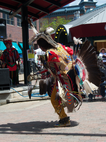 Traditional Native American dancing and music