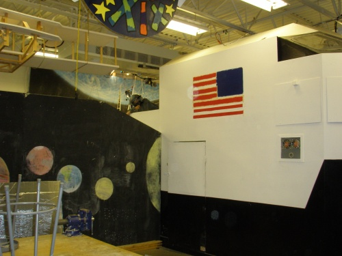 Webber Jr. High's space shuttle mock-up