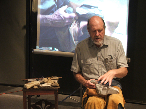 Bob Patten talks about different types of stone used to make tools