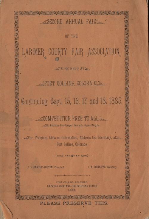 1885 Larimer county fair