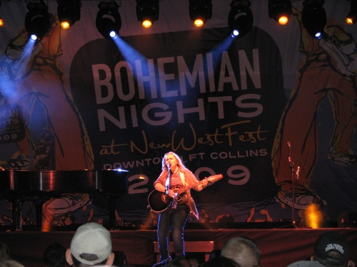 Melissa Etheridge performs in Fort Collins at Bohemian Nights at New West Fest, Aug. 15th, 2009. Photo by Jason Wolvington