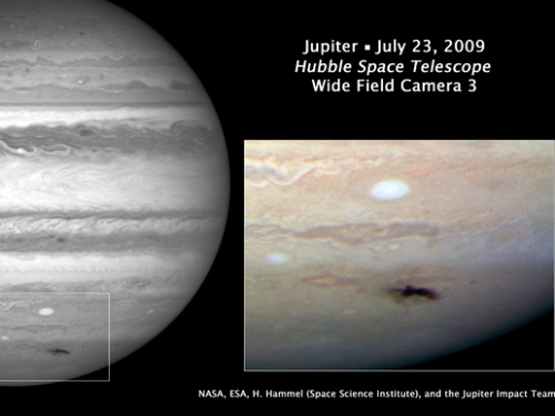 Photo credit: NASA, ESA, and H. Hammel (Space Science Institute, Boulder, Colo.), and the Jupiter Impact Team
