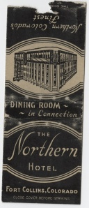 northern hotel matchbook cover