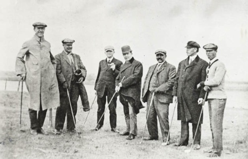 Golfing gents at the Fort Collins County Club, circa 1906