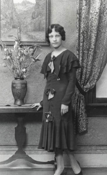 Thelma McHone dressed for the photographer in her 1930s finery