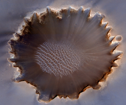 HiRISE image of Victoria Crater on Mars